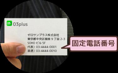 固定電話番号